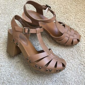 Charlotte Russe • Tan strappy heels